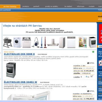 PM servis web, eshop 3