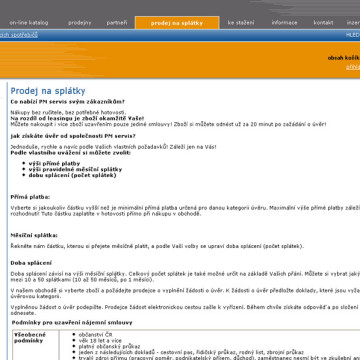 PM servis web, eshop 7