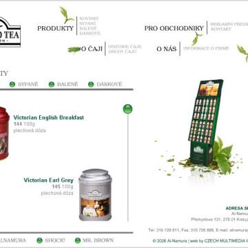 Ahmad tea - webová prezentace 2