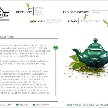 Ahmad tea - webová prezentace 3