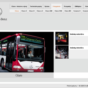 Mercedes-Benz EvoBus - multimediální CD prezentace