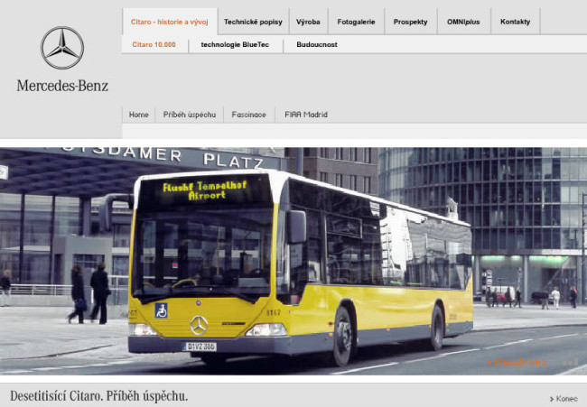Mercedes-Benz EvoBus - multimediální CD prezentace 1
