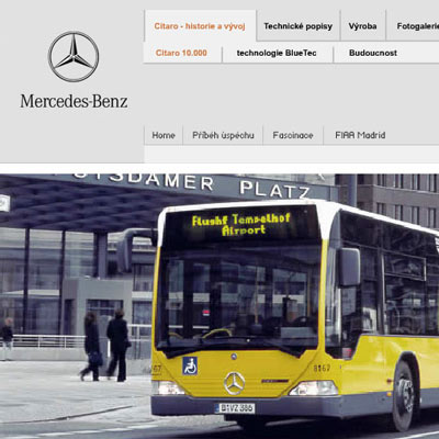 Mercedes-Benz EvoBus - multimediální CD prezentace 3