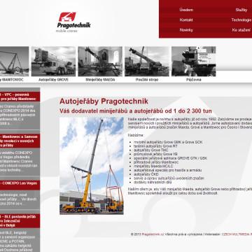 Webová prezentace Pragotechnik 1