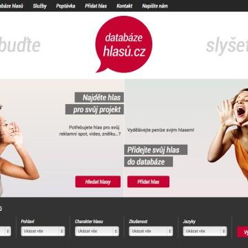 Databáze hlasů.cz - úvodní stránka