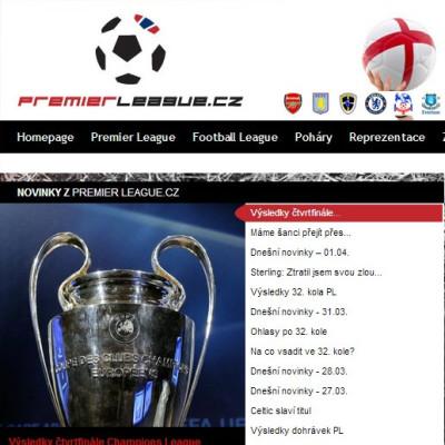 Internetový portál Premier League.cz
