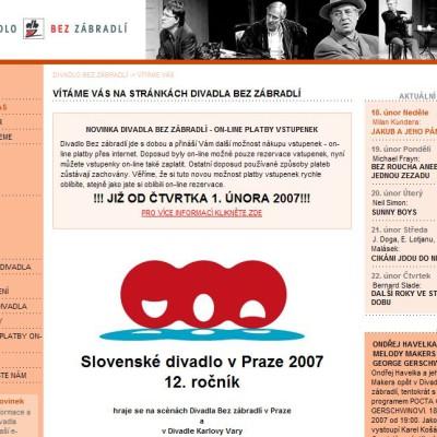 Divadlo Bez zábradlí - webová prezentace 1