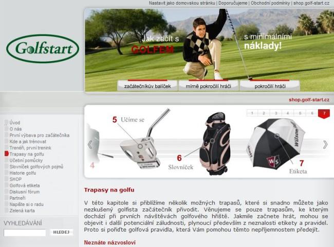 e-shop Golf-Start.cz 1