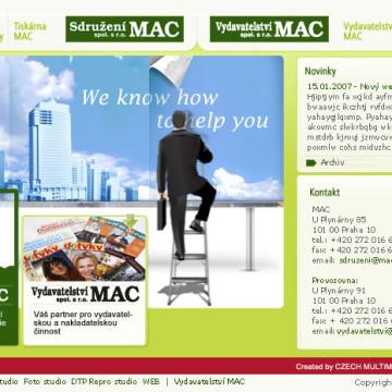 Sdružení MAC - webdesign 1