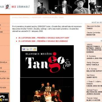Divadlo Bez zábradlí - webová prezentace 3