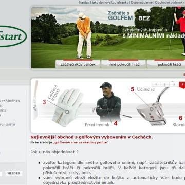e-shop Golf-Start.cz 2
