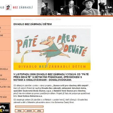 Divadlo Bez zábradlí - webová prezentace 2