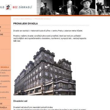 Divadlo Bez zábradlí - webová prezentace 4