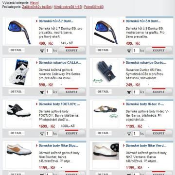 e-shop Golf-Start.cz 4