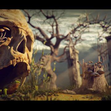 3d-houby-v-lese