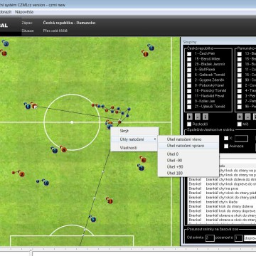 3D Fotbal visual editor by CZMI