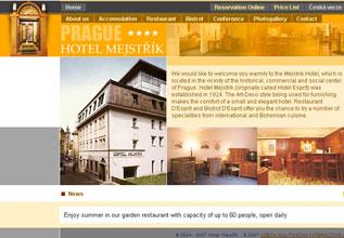 Internetová prezenatce Hotelu Mejstřík