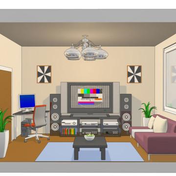 3d vizualizace principů úspor energie obyvak-spotrebice-3d-sketch