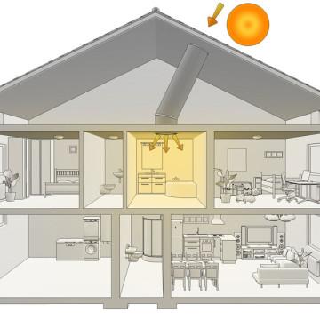 3d vizualizace principů úspor energie svetlovod-3d-sketch