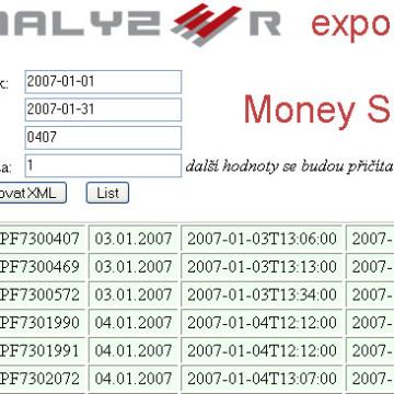 Analyzer - Money S3 exporter 1
