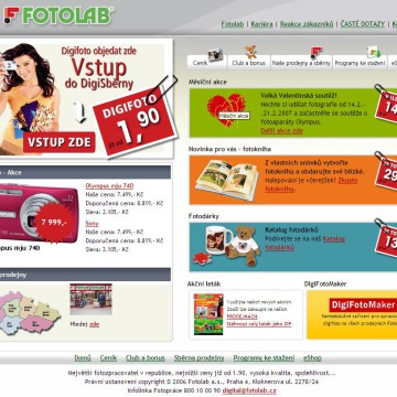 Fotolab.cz - Internetová prezentace 01