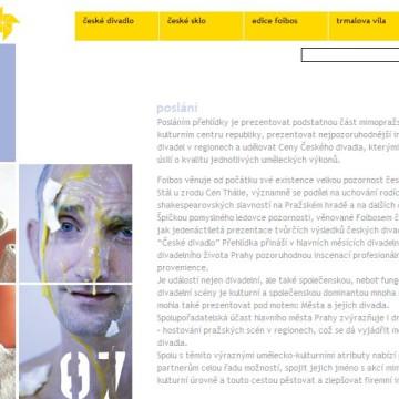 Internetové prezentace umělecké agentury Foibos 6