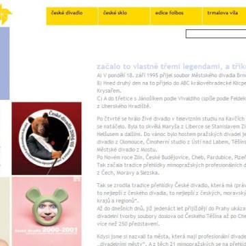 Internetové prezentace umělecké agentury Foibos 7