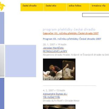 Internetové prezentace umělecké agentury Foibos 15