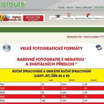 Fotolab.cz - Internetová prezentace 06
