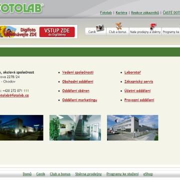 Fotolab.cz - Internetová prezentace 07