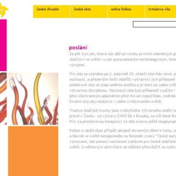 Internetové prezentace umělecké agentury Foibos 9