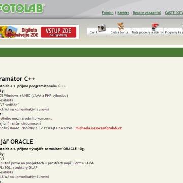 Fotolab.cz - Internetová prezentace 08