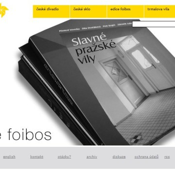 Internetové prezentace umělecké agentury Foibos 13