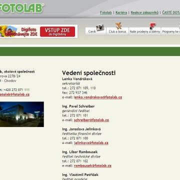 Fotolab.cz - Internetová prezentace 10