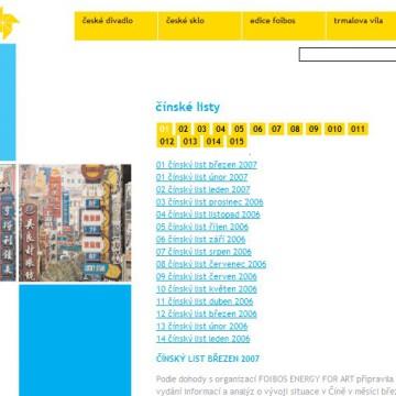 Internetové prezentace umělecké agentury Foibos 11