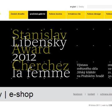 Internetové prezentace umělecké agentury Foibos 2