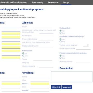 Cargo Trnava - webová prezentace 3