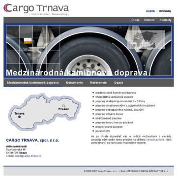 Cargo Trnava - webová prezentace 4