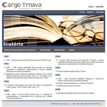 Cargo Trnava - webová prezentace 1