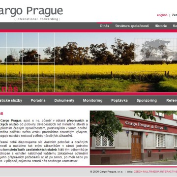 Cargo Prague webová prezentace 02
