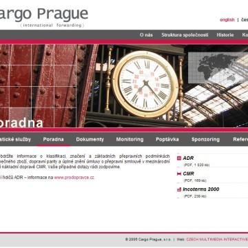 Cargo Prague webová prezentace 06