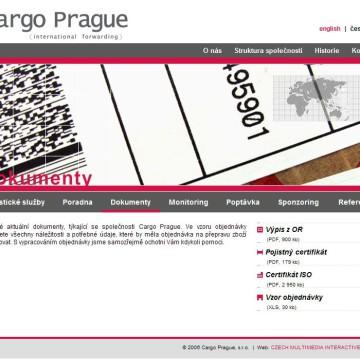 Cargo Prague webová prezentace 07