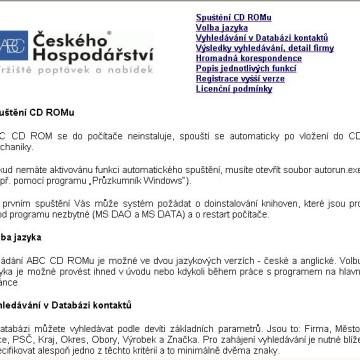 ABC Českého Hospodářství - CD katalog 8