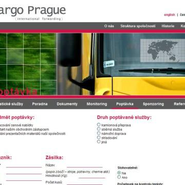 Cargo Prague webová prezentace 08