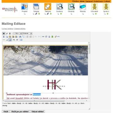 Hotel Kašperk admin mailing