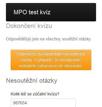 Mobilní kvíz a losovací aplikace MPO - nesoutěžní otázky