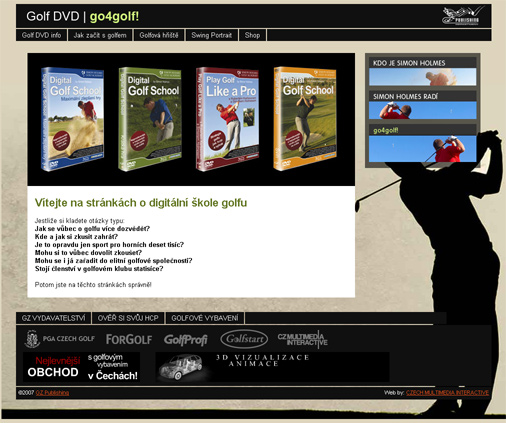 Golf DVD - go4golf! webová prezentace 01