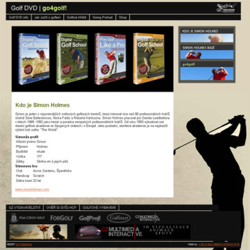 Golf DVD - go4golf! webová prezentace 02