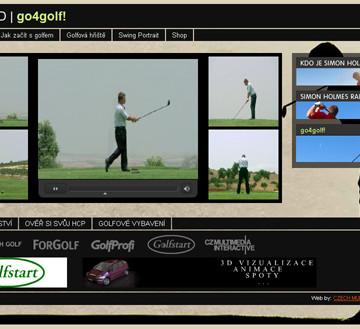 Golf DVD - go4golf! webová prezentace 04