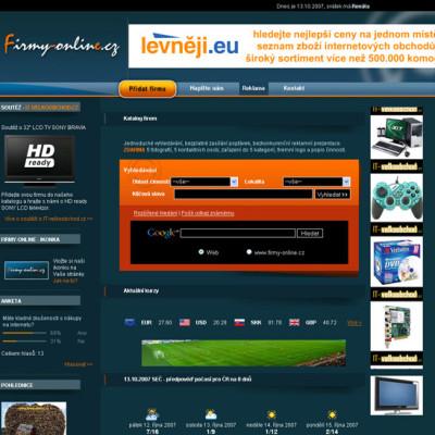 Internetový katalog Firmy-online.cz 01